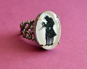 Sale 20% Off // EDWARD SCISSORHANDS Ring - Silhouette Jewelry // Coupon Code SALE20