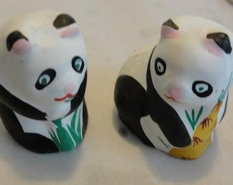 Panda Bears Figurines