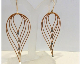 Small Gold Feather Earrings