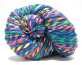 Hand Dyed Merino Wool - 2 Ply Bulky Weight Yarn – Purple Rainbow Yarn – 69 Yards