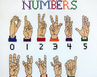 Sign Language Numbers--LB14295