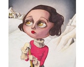 "Mimi in ""Saint Moritz"" Giclee Fine Art Print, Painting, Giclée"