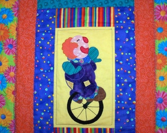 Circus clown wall hanging