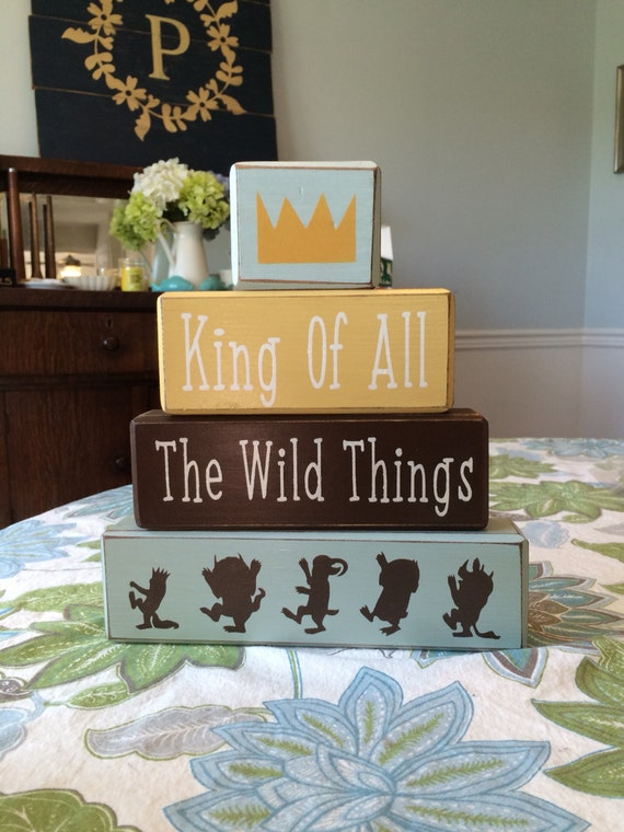 where the wild things are baby nursery decor shower centerpiece photo