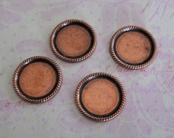 4 Copper Round Bezel Frames 2056