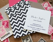 Classic Chevron Calling Cards / Business Cards/ Blogger Cards - Set (50)