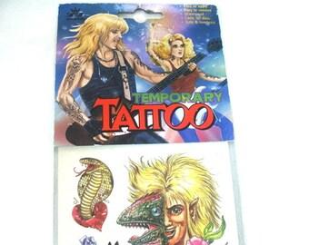 Vintage 90s Temporary Tattoos Grunge Era Rock n Roll