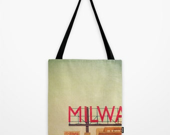 MPM Tote Bag, Milwaukee Public Market, fashion  accessory, 16x16