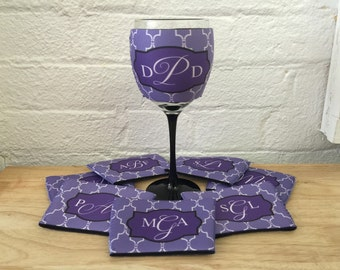 Custom Wine Glass Coolie - Wine Cozy - Wine Hugger - Glass Hugger- Wine Sleeve