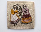 RESERVED a gathering song - an embroidery artwork