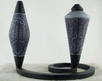 Alive Glass -  Fraternal Twins - Grey / Black