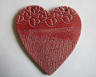 cherry red heart