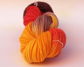 Girl on Fire -  SW and nylon sock yarn