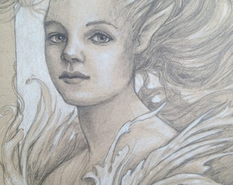 faerie portrait  by Renae Taylor (original painting)