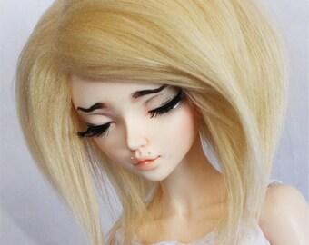 "BJD MSD minifee  7"" wig Blonde fake fur wig MonstroDesigns Sale"