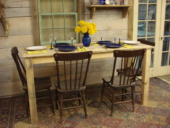 Counter Height Farm Table : Farmhouse Counter Height Table 72 x 27 x 36H by DriftwoodTreasures
