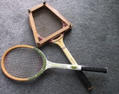 2 Vintage Wooden Tennis Rackets, Wright Ditson Comet and Spalding Gonzales, Man Den, Man Cave, Game Room Decor, Vintage wood Tennis rackets