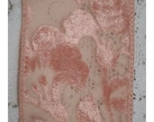 Beautiful BLUSH BURNOUT Velvet RIBBON - 1970s Revival of a 1920s Style - Hard to Find