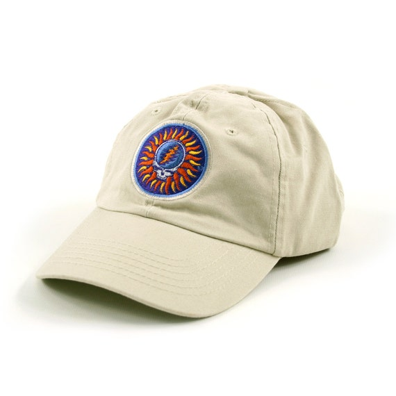 Grateful Dead Trucker Hat: Grateful Dead SYF Steal Your Sun TAN By Sherrishempdesigns