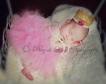 Gold Lace Crown with Tutu