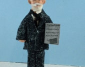 Ivan Pavlov Psychology Art Doll Miniature