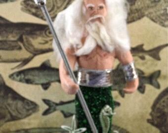 King Neptune Doll Miniature Ocean Sea Themed Art Character