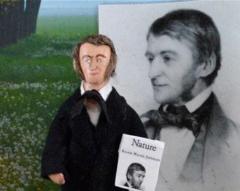 Ralph Waldo Emerson Doll Miniature Classic Literature Author Art Collectible
