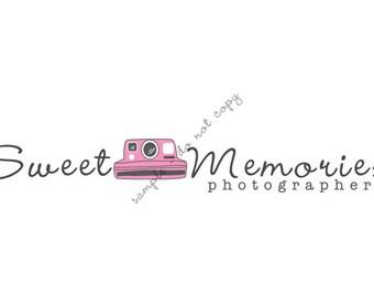 Premade Photography Poloroid Camera Business Logo Design