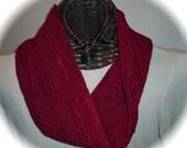 Crimson Textured Cowl in Superwash Merino