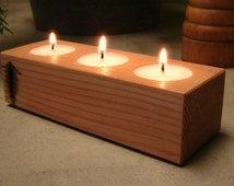 Wood Candle Holder, Tea Light Candle Holder, Home Decor, Cottage Style