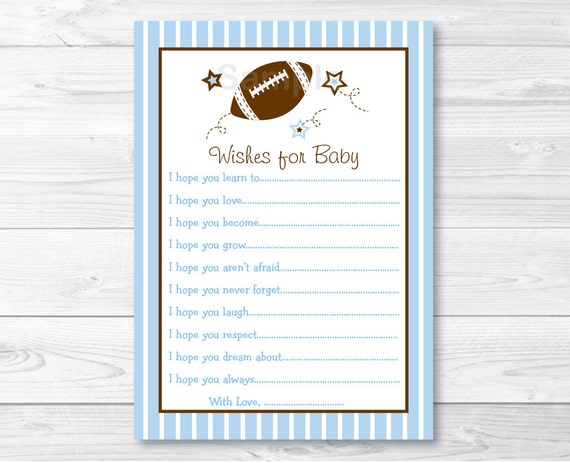 Football wishes for baby football baby shower sports baby football wishes for baby football baby shower sports baby shower baby shower wishes baby blue baby boy instant download a246 pronofoot35fo Gallery