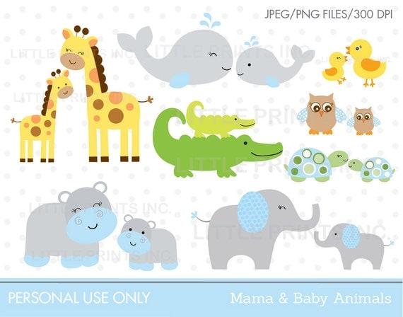 Amigurumi Parent And Baby Animals Free Download : Dschungel Tiere Clipart / Baby Animals / von ...