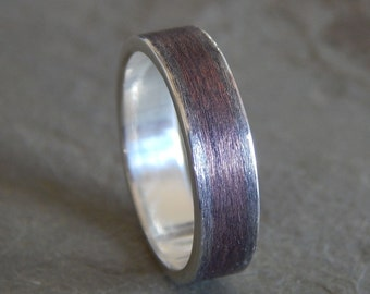 5-8 mm RUSTIC TEXTURED Silver Band // Men's Wedding Ring // Women's Wedding Ring // Men's Wedding Band // Women's Wedding Band // Unique