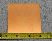 "3"" Copper Square 24 Gauge  Pack of 1"