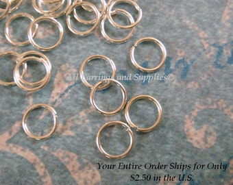 100 Silver Jump Ring 6mm 21 Gauge Plated Jumprings 6mm Outside - 100 pc - F4003JR-S6mm100