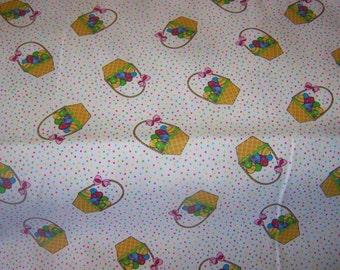 Easter Basket Pique Fabric