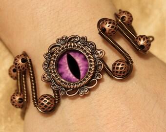 DragonPunk Jewelry - Bracelet - Purple dragon eye