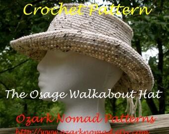 Immediate Download - PDF Crochet Pattern - Osage Walkabout Hat