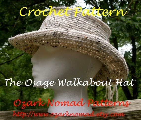 Immediate Download - PDF Crochet Pattern - Osage Walkabout Hat