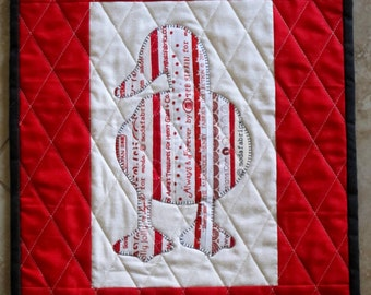 DUCK Mini Selvage Quilt Collection from Quilts by Elena Wall Hanging Table Topper Selvages