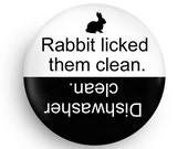 Funny Dishwasher Clean Magnet for Rabbit Owners, Great Gift for Rabbit Lovers