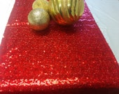 SEQUINS RUNNERS - COLORS ,Sequin Metallic Table Runner, Apple Green, Red, Rose, PInk, Gold, Silver Champagne, Wedding Runner, Bridal