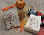 Fall Wedding Favors | Personalized Fall Candy Boxes | Favor Box Fall Wedding