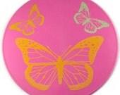 Pink Butterfly Table Trivet, Table Mat, Kitchen Trivet, Kitchen Placemat, Table Decor
