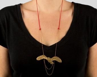 Owl Necklace - Barn Owl Jewelry - Owl Jewelry - Bird Necklace - Animal Totem - Put A Bird On It