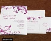 Katelynn Letterpress or Digital Wedding Invitations - Set of 100