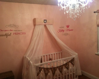 Crib Canopy Nursery Bed JoJo Teesters Princess Mauve Pink brown Silver Personalized FREE SaLe