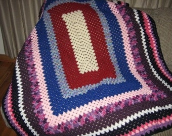 Clearance Sale One of a Kind Scrap Afghan
