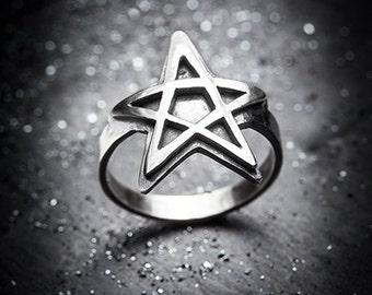 sale- SALEM pentagram ring