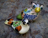 Vintage 60s 70s Mexican Pottery Birds Lot 2